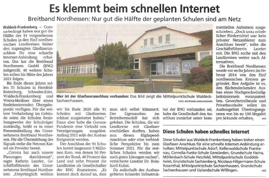 2021 01 06 WLZ Breitband Nordhessen Es klemmt