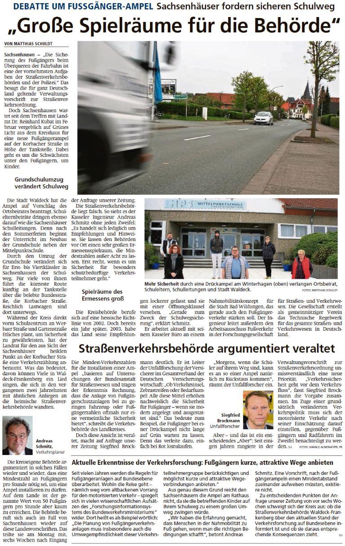 2021 07 07 WLZ Sachsenhaeuser fordern sicheren Schulweg