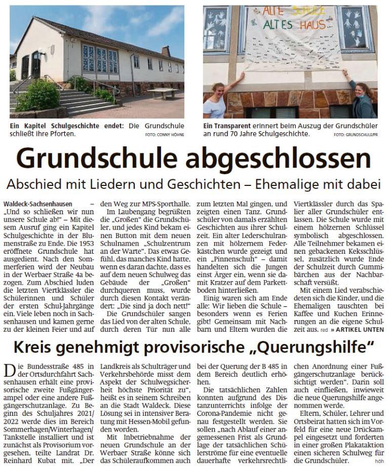 2021 07 24 WLZ Grundschule abgeschlossen